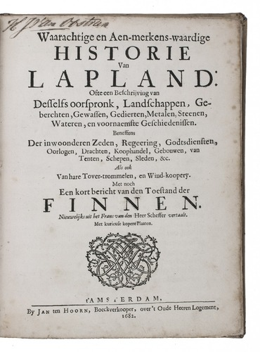 Dutch Translation Of An Important Work On Lapland With 17
