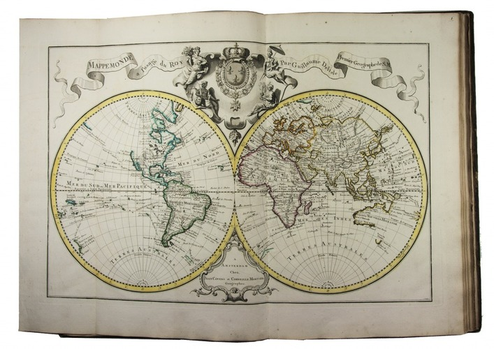 Magnificent world atlas with 119 very large maps in contemporary magnificent world atlas with 119 very large maps in contemporary colouringbrwith a rare extra inserted map of the naval battle of portobello in panama gumiabroncs Images